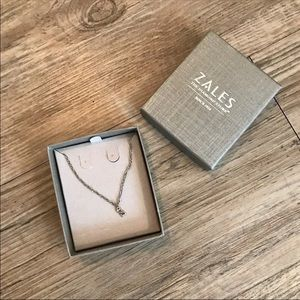 Zales Open Heart Dainty Necklace